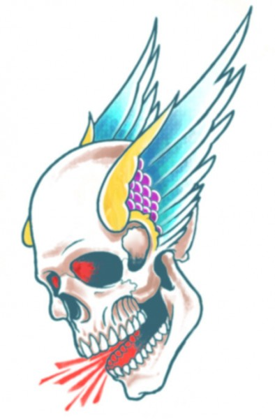 "Tinsley Transfers Tattoo FX - Biker - ""Winged Skull"""