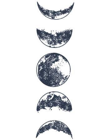 Tattooed Now! Temporary Tattoo - Moon Phases Tattoo
