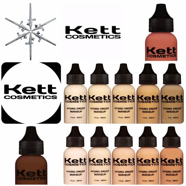 KETT COSMETICS - HYDRO PROOF AIRBRUSH FOUNDATIONS 30ML