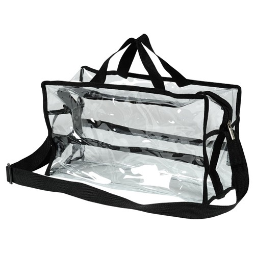 Monda - Shoulder Clear Bag Large - MST-009 BLACK