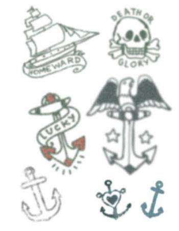 Tattooed Now! Temporary Tattoo - Small Sailor Set