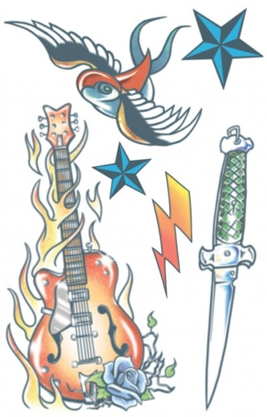 """Tinsley Transfers Tattoo FX Kit - Rock Star """"Sold Our Souls"""""""