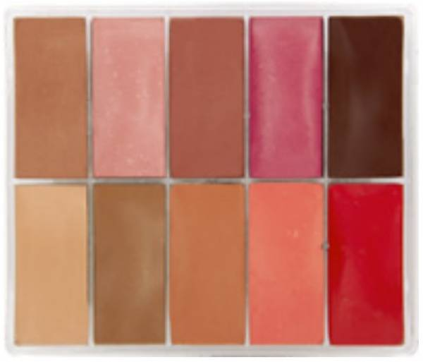 maqpro Fard Creme Palette - 10 Colors Lip Palette - MAB1
