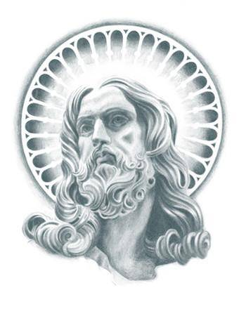 Tattooed Now! Temporary Tattoo - Realistic Jesus Portrait