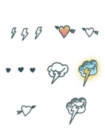 Tattooed Now! Temporary Tattoo - Thunder Love Set