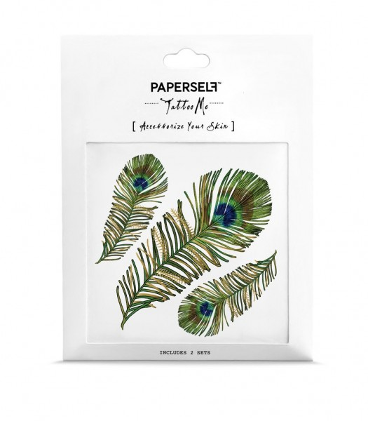 PAPERSELF Tattoo - Peacock Feather