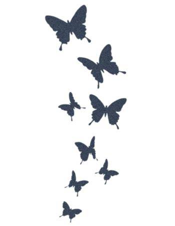 Tattooed Now! Temporary Tattoo - Flying Butterflies