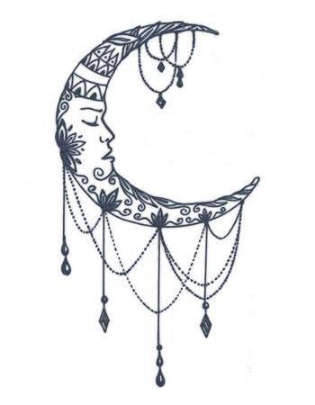Tattooed Now! Temporary Tattoo - Mandala Moon
