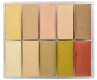maqpro Fard Creme Palette - 10 correcteur créme color - MAP02