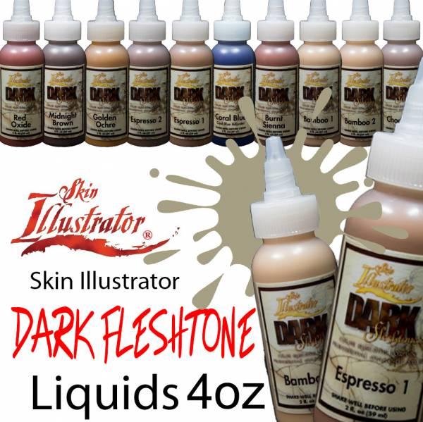 Skin Illustrator Dark Fleshtone Liquids 4oz