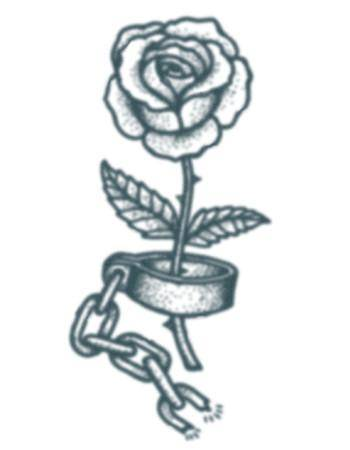 Tattooed Now! Temporary Tattoo - Prison Rose Tattoo