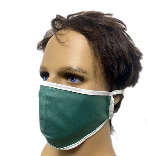 Litex Baumwoll-Schutzmaske - Grün