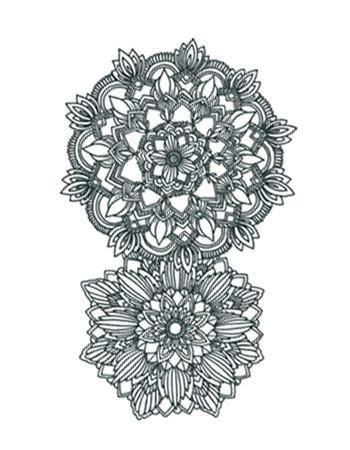 Tattooed Now! Temporary Tattoo - Mandala Flower Ornament