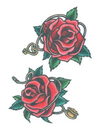 Tattooed Now! Temporary Tattoo - Red Red Roses