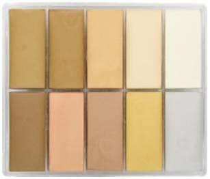 maqpro Fard Creme Palette - 10 correcteur créme color - PP01