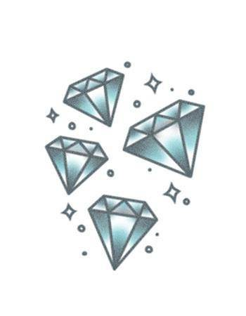 Tattooed Now! Temporary Tattoo - Blue Lucky Diamonds