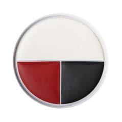 Ben Nye Red, White & Black Wheel - RB