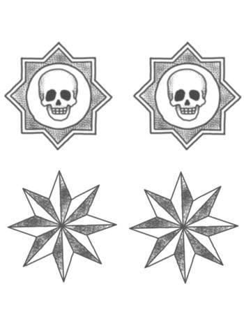 Tattooed Now! Temporary Tattoo - Skulls and Stars
