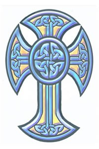 Tinsley Transfers Tribal Celtic Cross