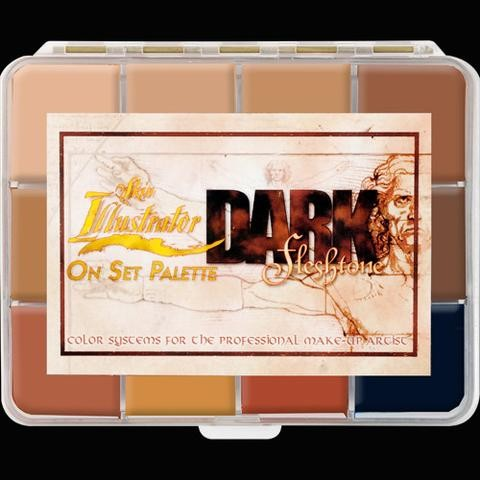 "Skin Illustrator ""Dark Fleshtone"" On Set Palette"