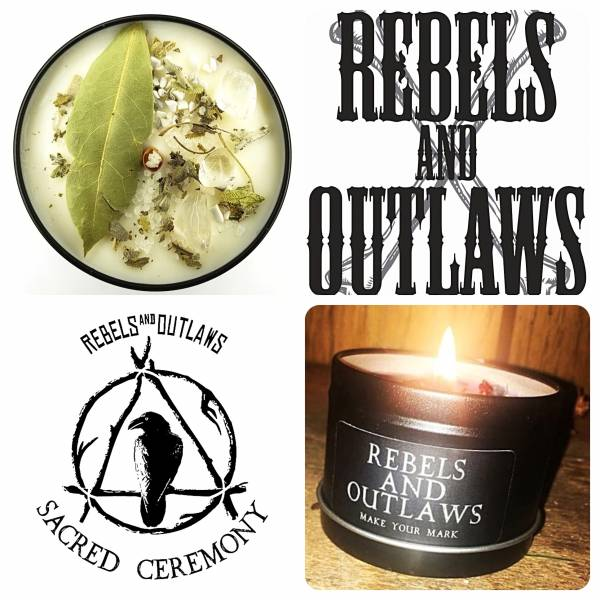 REBELS and OUTLAWS - Pilgrims Pride Candle
