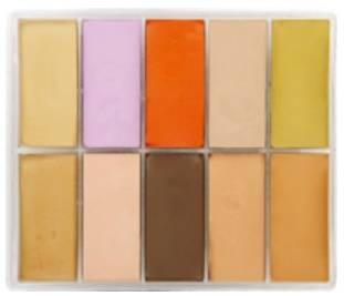 maqpro Fard Creme Palette - 10 correcteur créme color - AB03