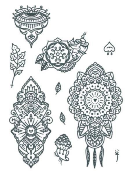 Tattooed Now! Temporary Tattoo - Mandala Set