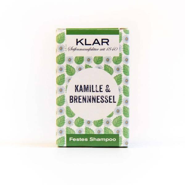 KLAR Festes Shampoo - Kamille & Brennnessel