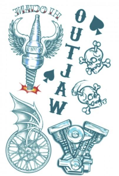 """Tinsley Transfers Tattoo FX Kit - Biker """"Outlaw"""""""