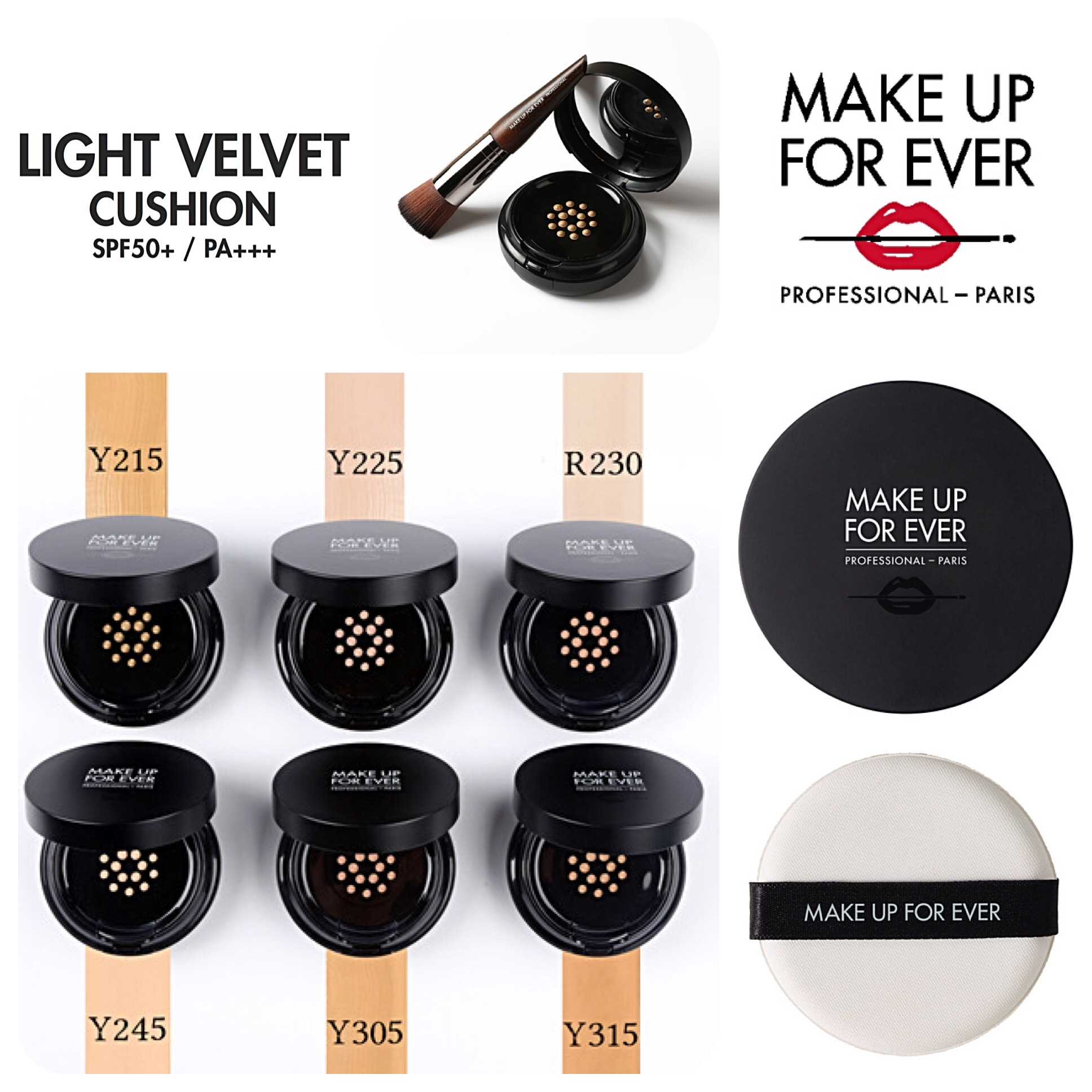 Make Up For Ever Light Velvet Cushion Spf50 Pa