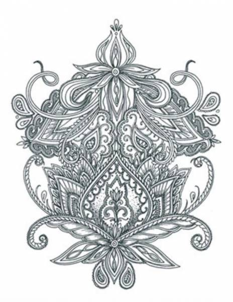 Tattooed Now! Temporary Tattoo - Mehdi Large Back Ornament