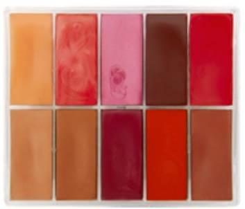 maqpro Fard Creme Palette - 10 Colors Lip Palette - R07