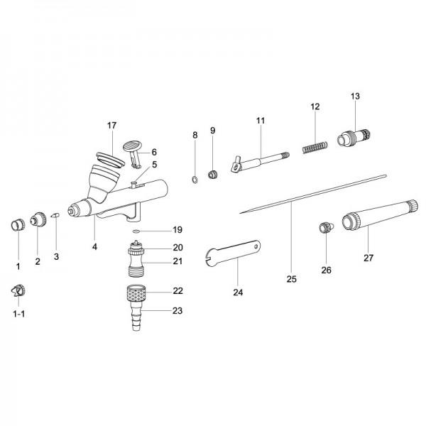 Temptu Airbrush Pistolendüse für SP-35