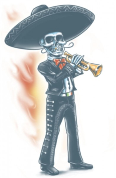Tinsley Transfers Day Of The Dead - Mariachi